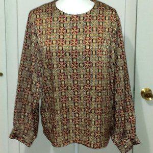 VINTAGE Worthington Jewel tone blouse